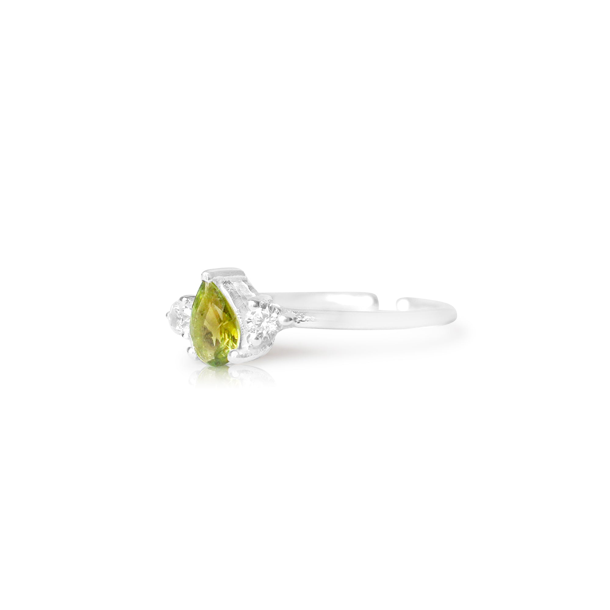 925 Silver Luxe Series Ring - Yumi (Green Tourmaline) - Tessellate.Co