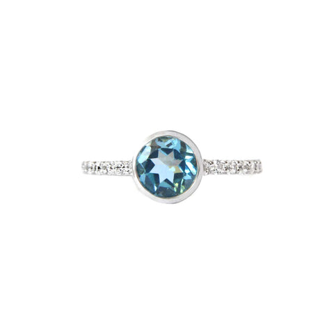 925 Silver Luxe Series Ring - Heather (Blue Topaz)