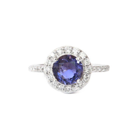 925 Silver Luxe Ring - Haley (Iolite)