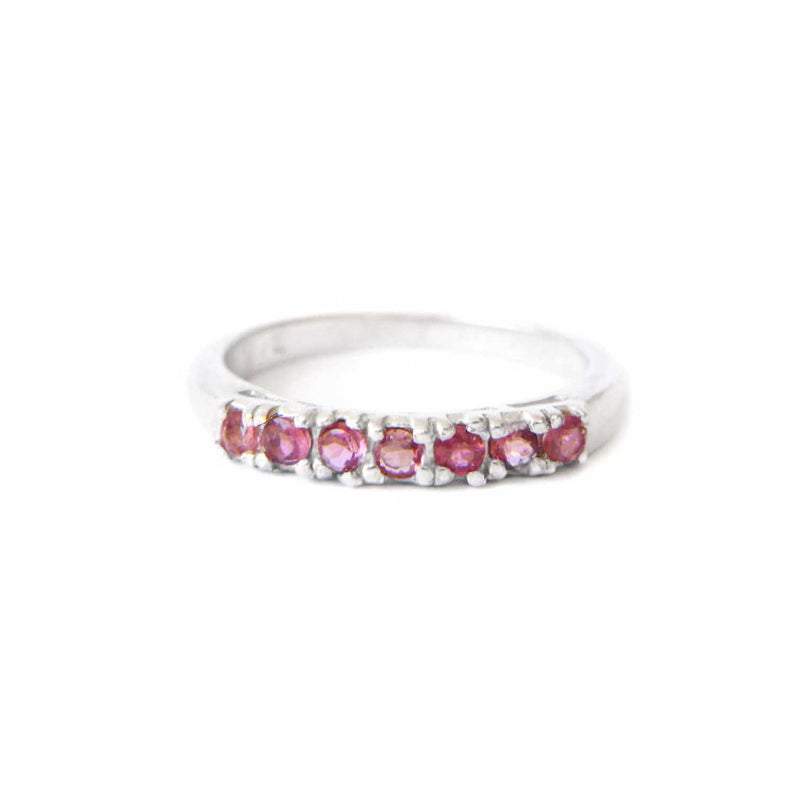 925 Silver Luxe Series Ring - Hana (Pink Tourmaline)