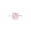 925 Silver Luxe Series Ring - Zaria (Rose Quartz)