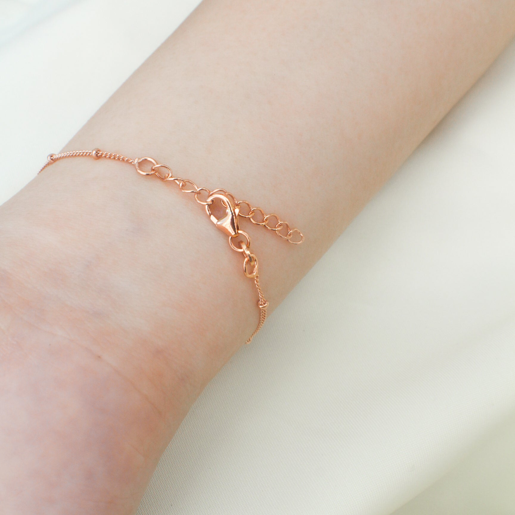 Rose Gold Plated Bracelet - Ball - Tessellate.Co