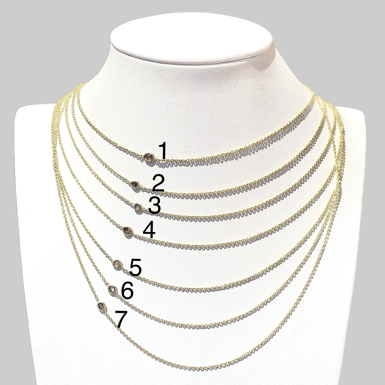 Diamond Series - Necklace - Fancy Diamonds (14k YellowGold) - Tessellate.Co