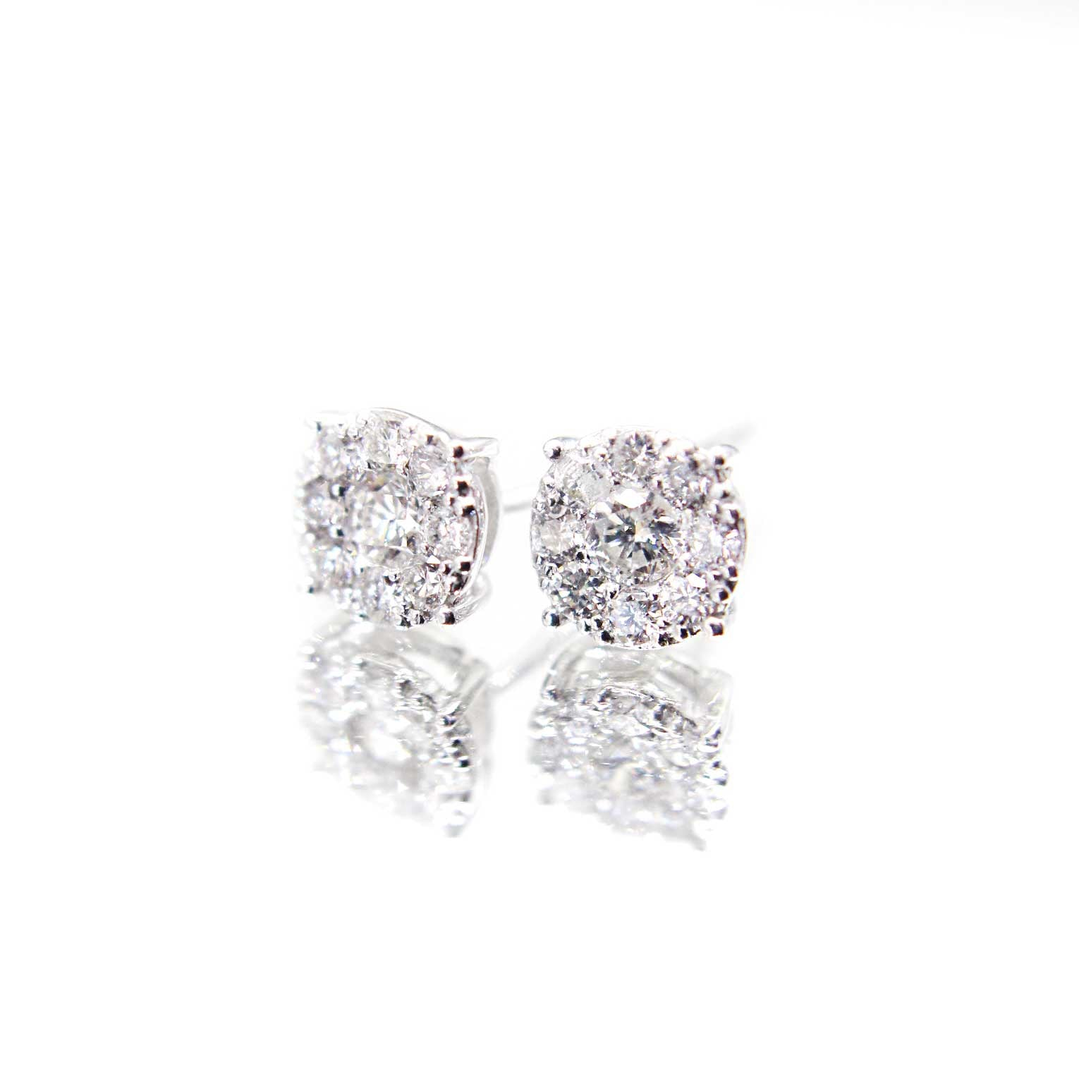 Diamond Series - Earrings - Ariel Studs (0.4 Carats, 18K White Gold)