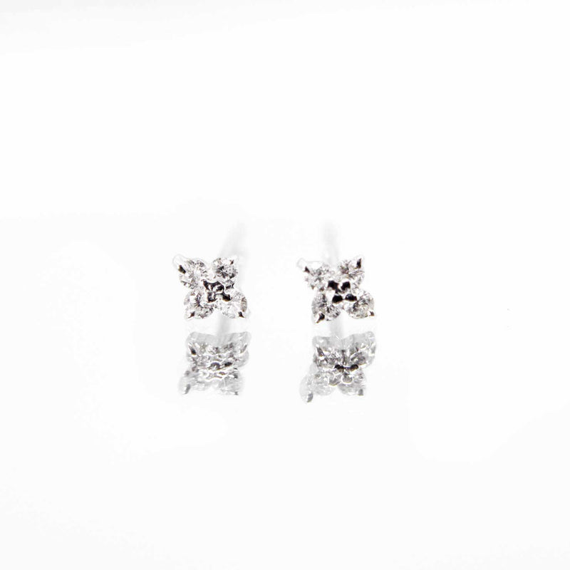 Diamond Series - Earrings - Andrea Studs (18K White Gold)