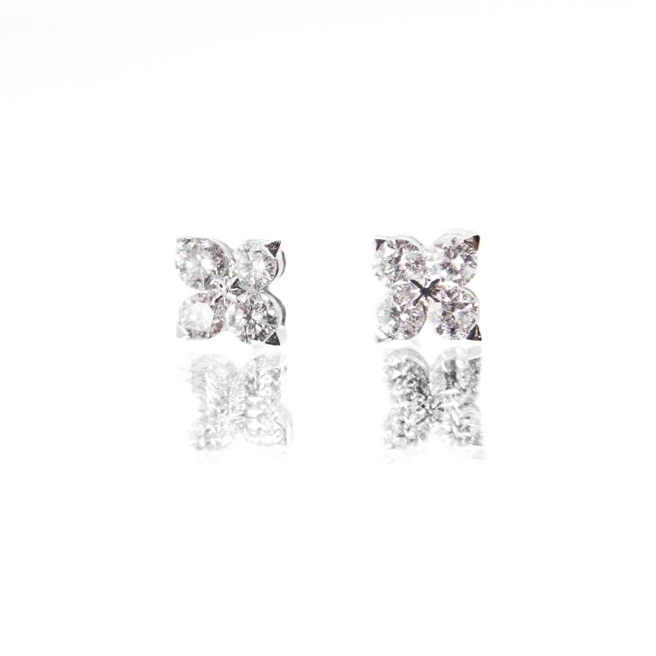 Diamond Series - Earrings - Allie Studs (0.2 Carats, 18K White Gold)
