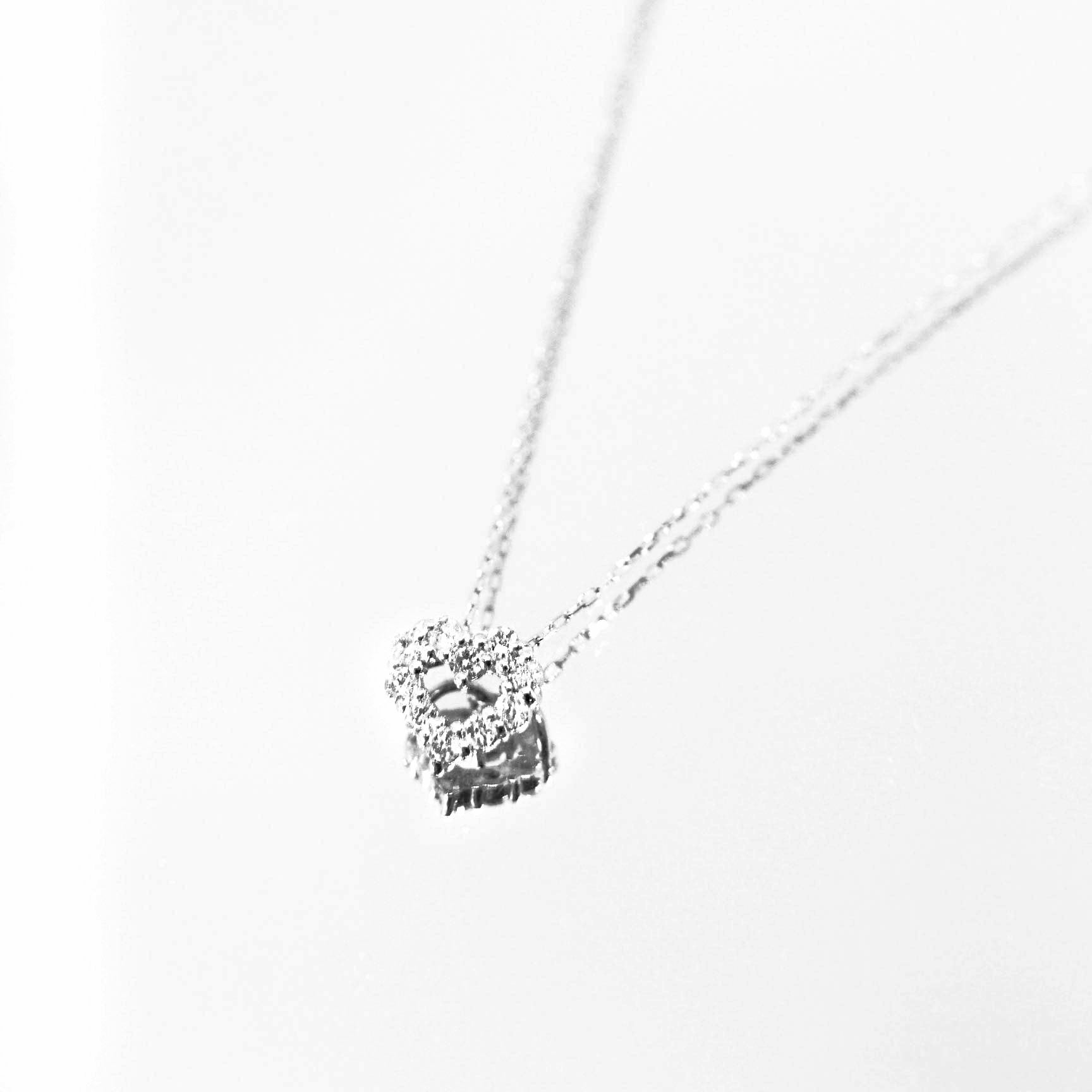 Diamond Series - Necklace - Heart (0.1 Carats, White Gold)