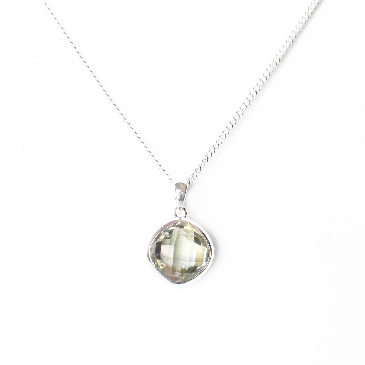 925 Silver Luxe Series - Liora Pendant (Green Amethyst)