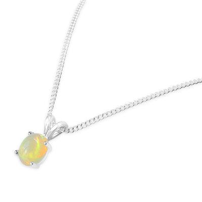 925 Silver Classic Series Pendant - Ophelia (Opal)