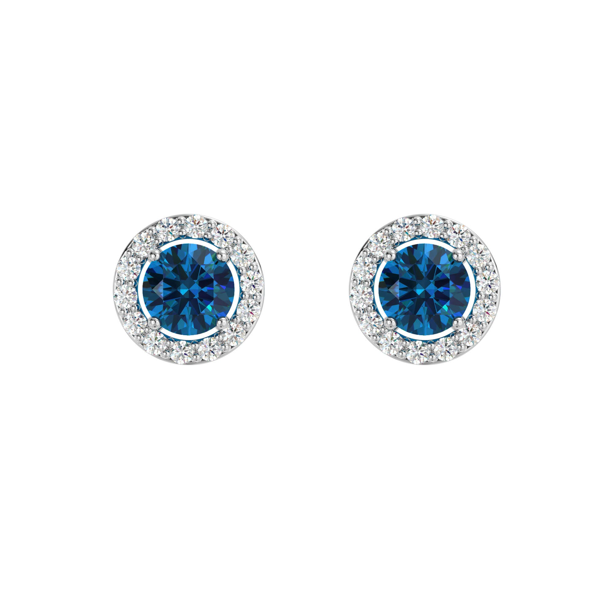 925 Silver Luxe Series Earring - Lydia (London Blue Topaz)