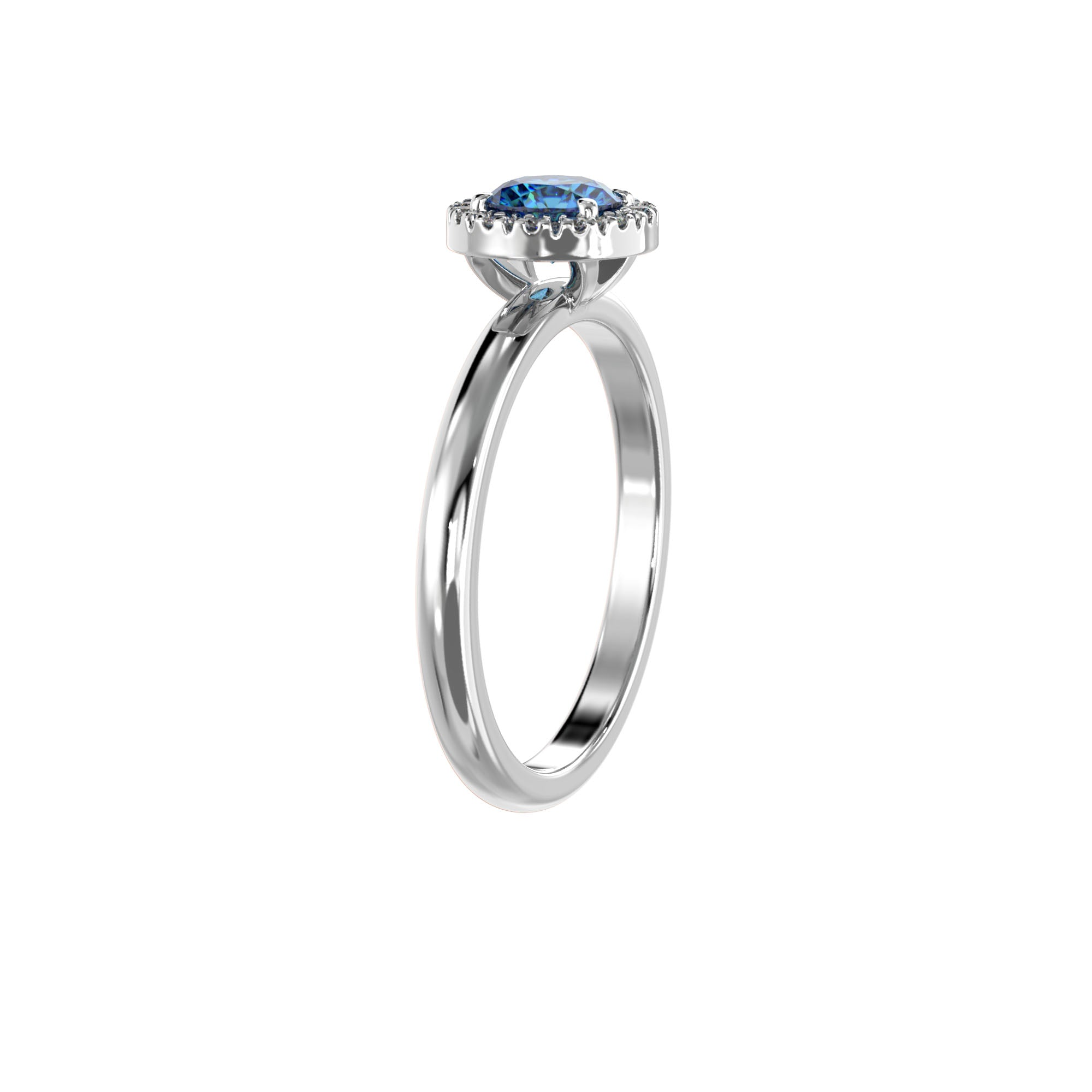 925 Silver Luxe Series Ring - Lydia (London Blue Topaz)