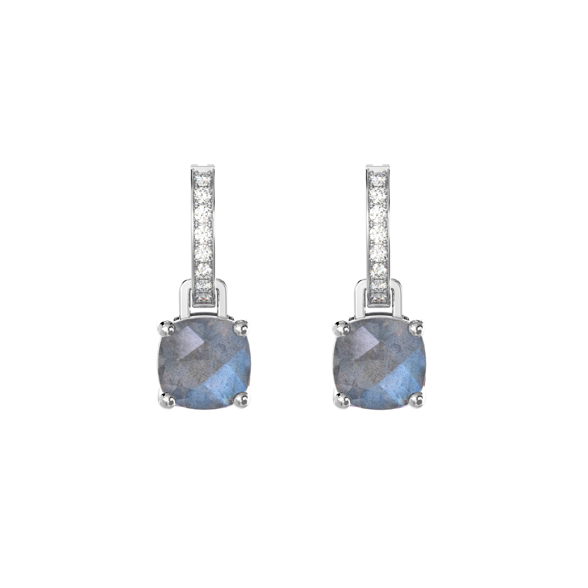 925 Silver Luxe Series Earrings Charms - Wylie (Labradorite)