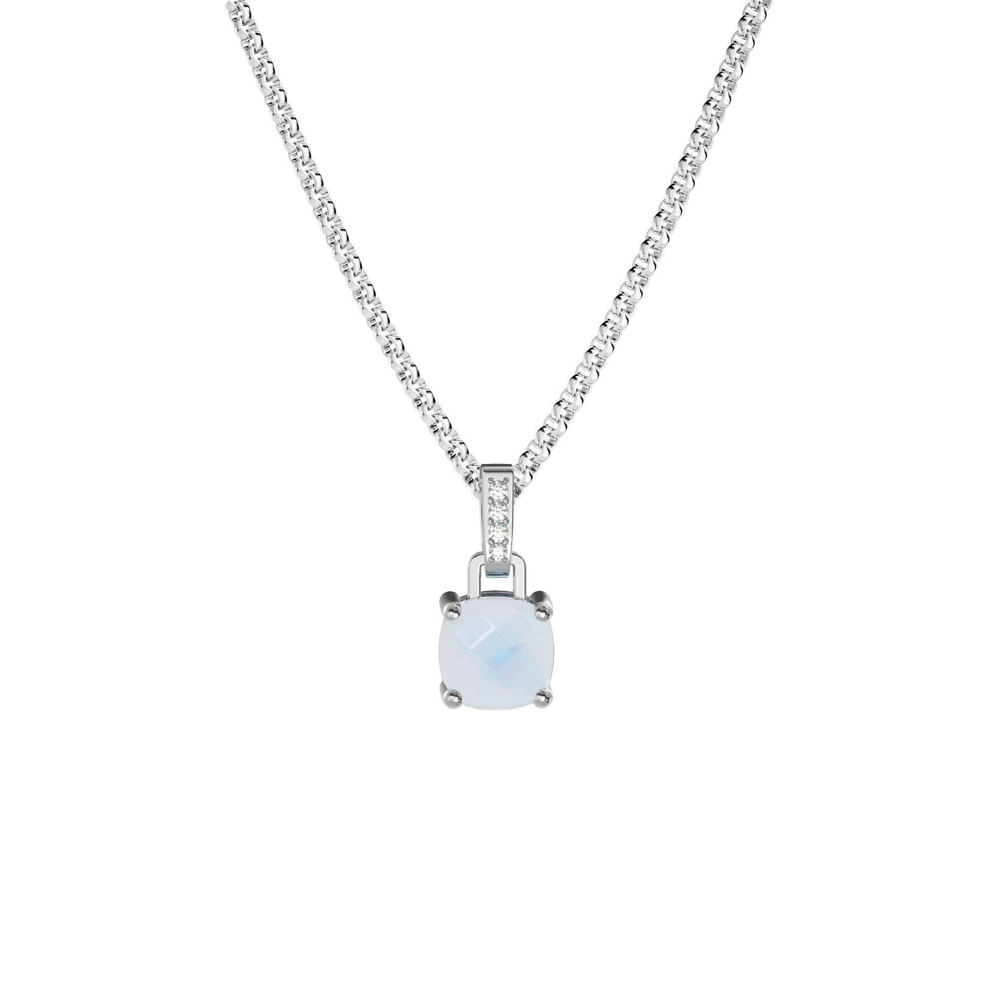925 Silver Classic Series Necklace - Felicia (Moonstone)