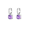 925 Silver Luxe Series Earrings Charms - Wylie (Amethyst)