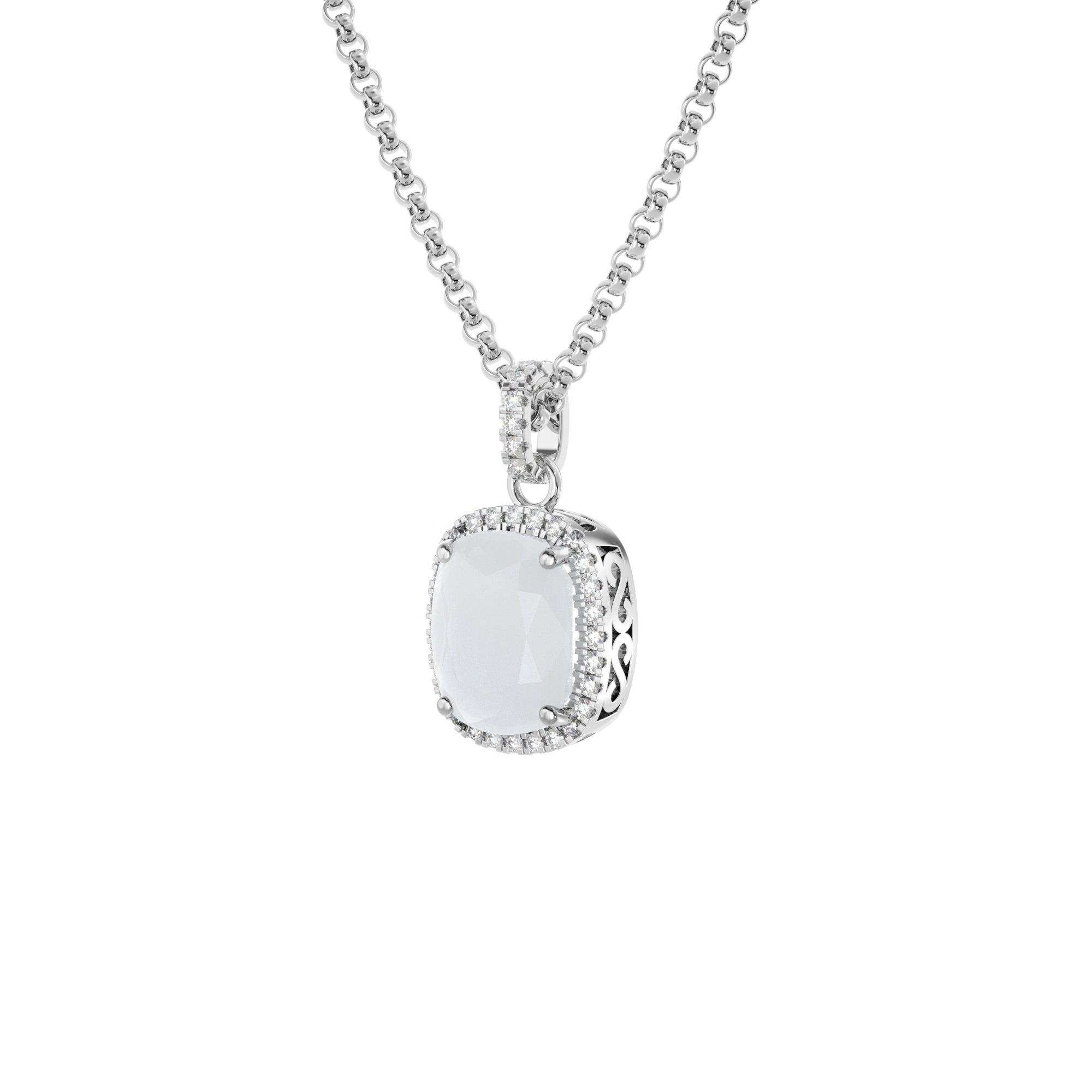 925 Silver Luxe Series Necklace - Laria (Moonstone)