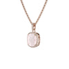 925 Silver Luxe Series Necklace - Laria (Rose Quartz) - Rose Gold Plated