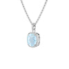 925 Silver Luxe Series Necklace - Laria (Topaz)