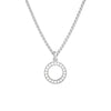 925 Silver Classic Series Necklace - Becca (Zirconia) - Plain Chain