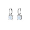 925 Silver Luxe Series Earrings Charms - Wylie (Moonstone)