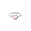 925 Silver Luxe Series Ring - Darci (Morganite)