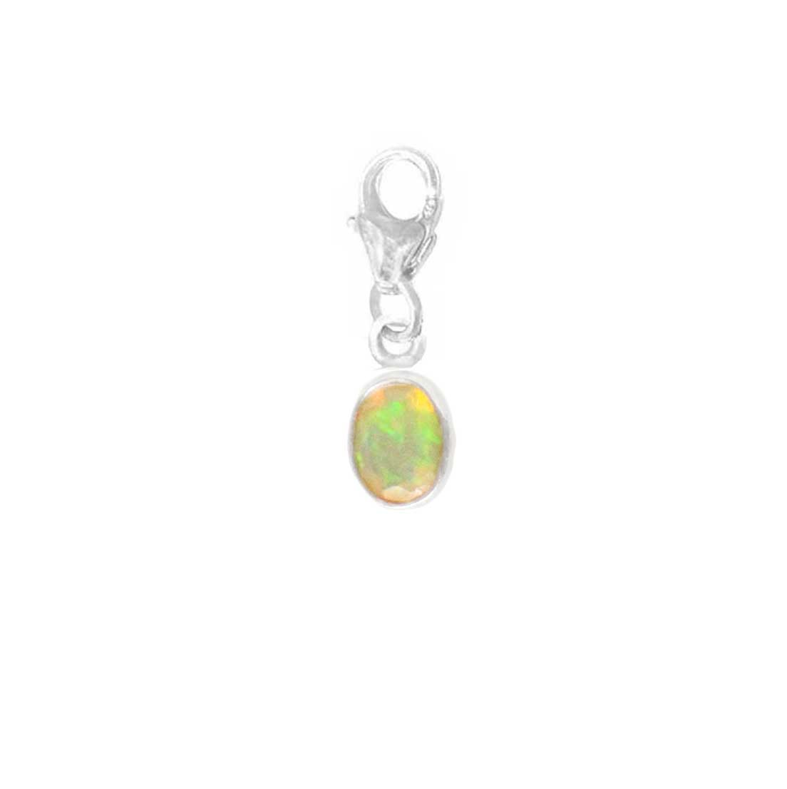 925 Silver Charm Series - Oval 7x5mm (Opal)