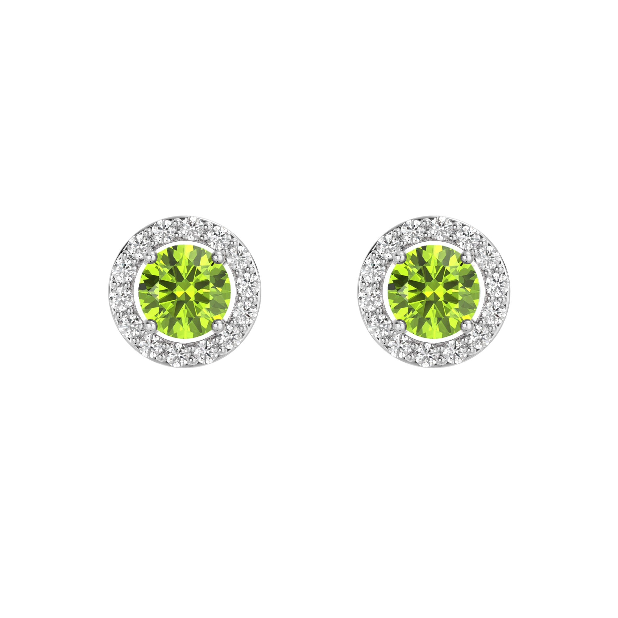 925 Silver Luxe Series Earring - Lydia (Peridot)
