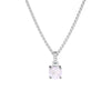 925 Silver Classic Series Necklace - Felicia (Rose Quartz)
