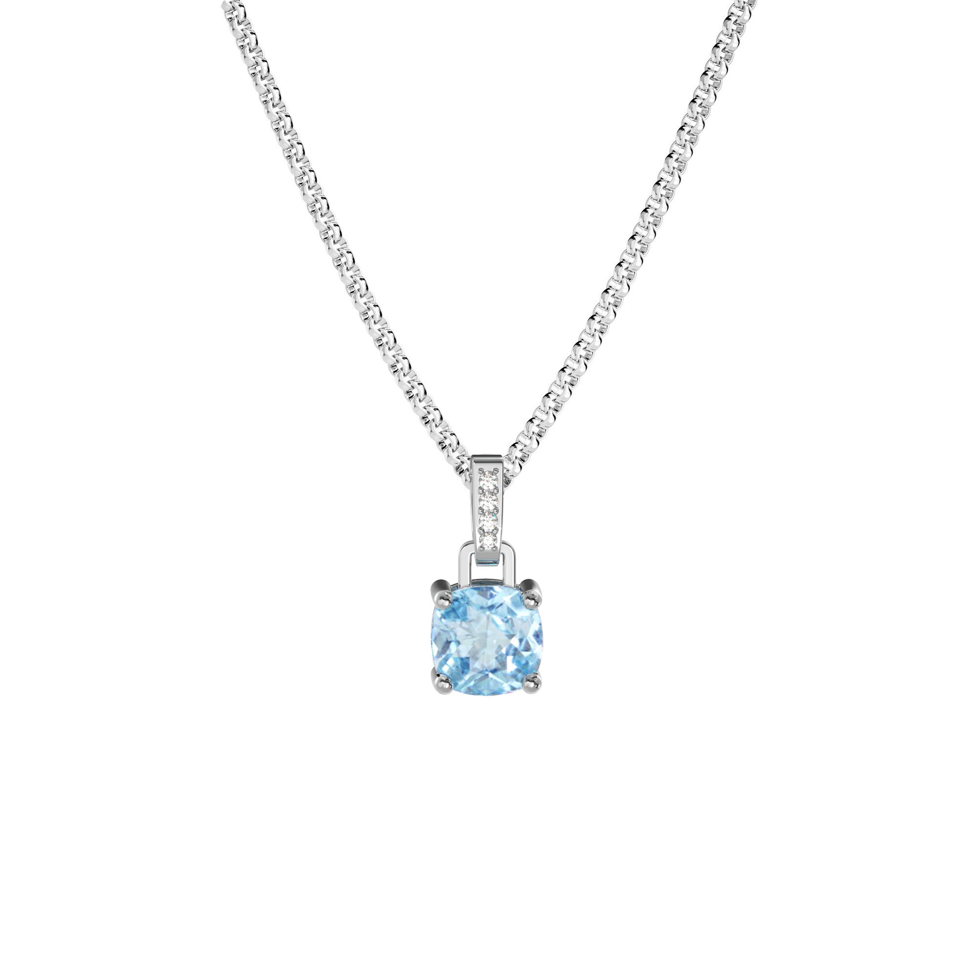 925 Silver Classic Series Necklace - Felicia (Topaz)