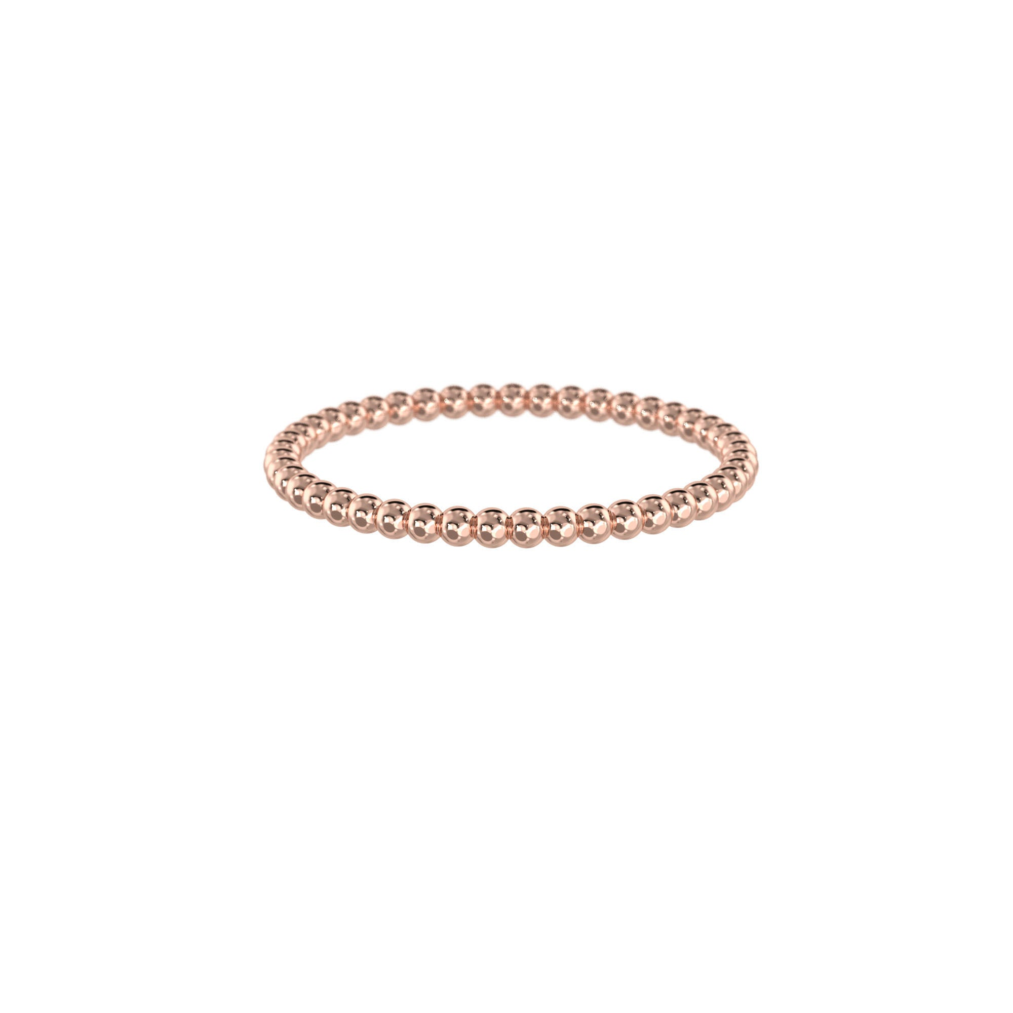 925 Silver Classic Series Ring - Erica (Dotted Stacker) - Rose Gold Plated