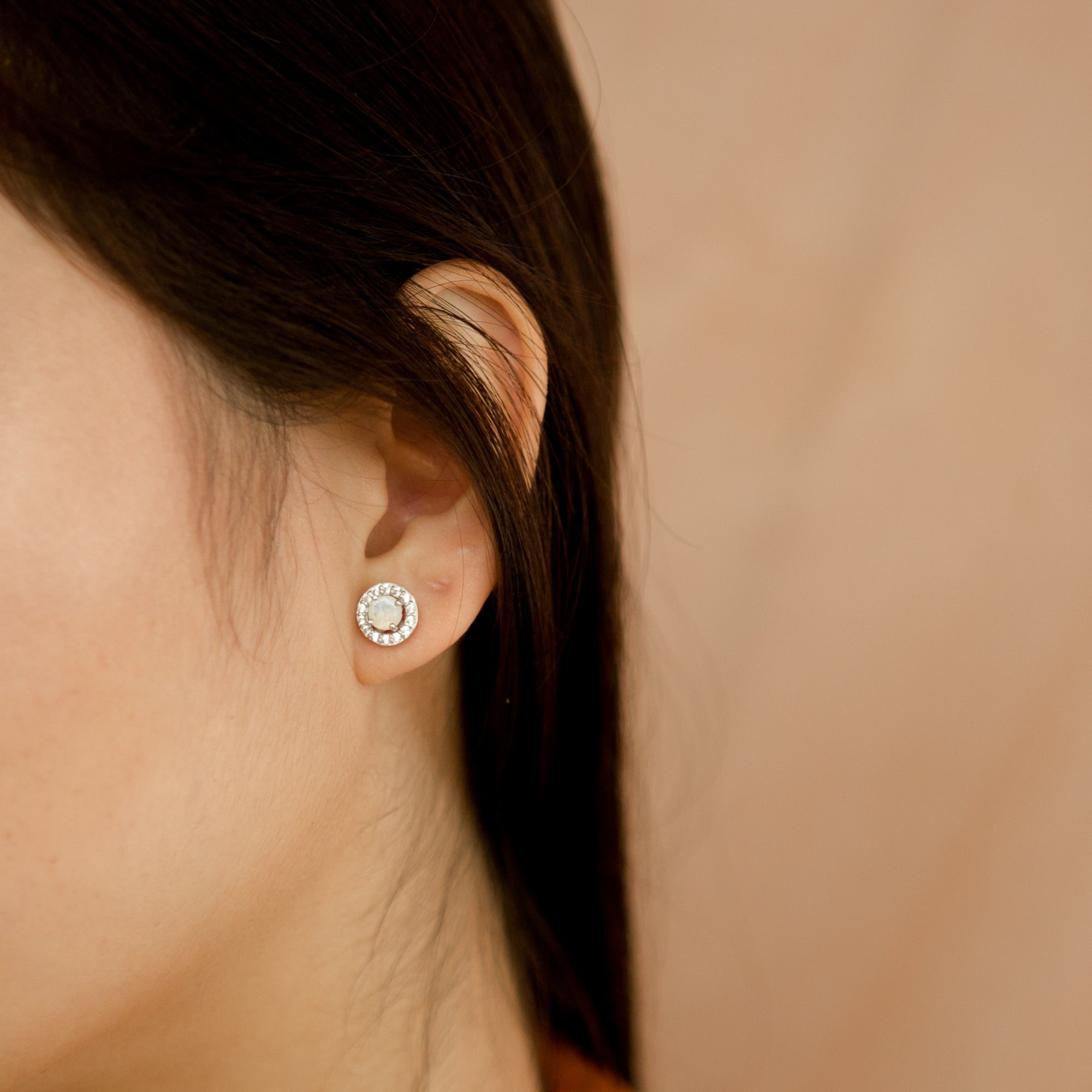 925 Silver Luxe Series Earring - Lydia (Moonstone)