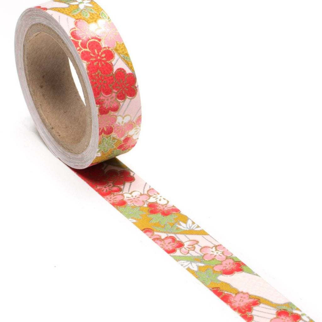 Cotton Candy Dreams Hand-Silkscreened Japanese Chiyogami Yuzen Washi Tape