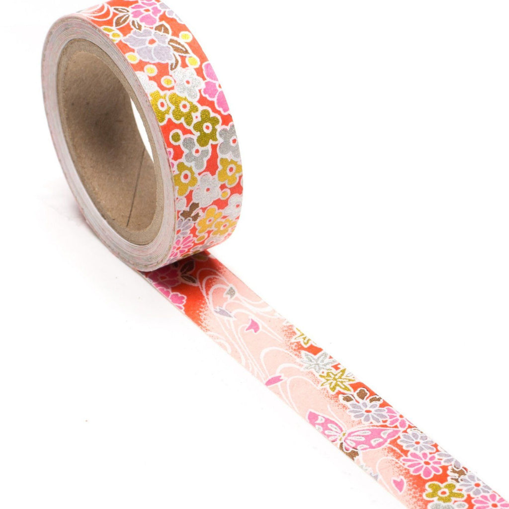 Butterfly Kisses Hand-Silkscreened Japanese Chiyogami Yuzen Washi Tape