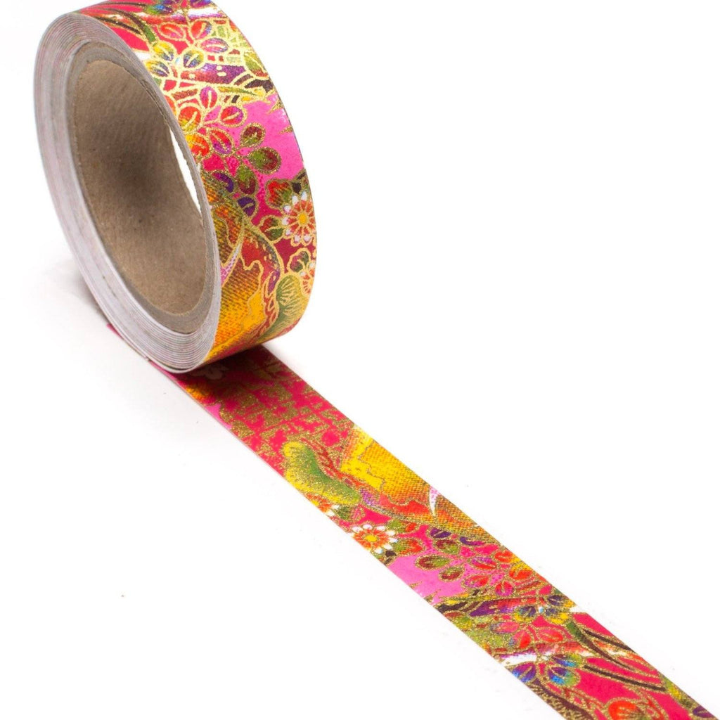Scenic Summer Hand-Silkscreened Japanese Chiyogami Yuzen Washi Tape
