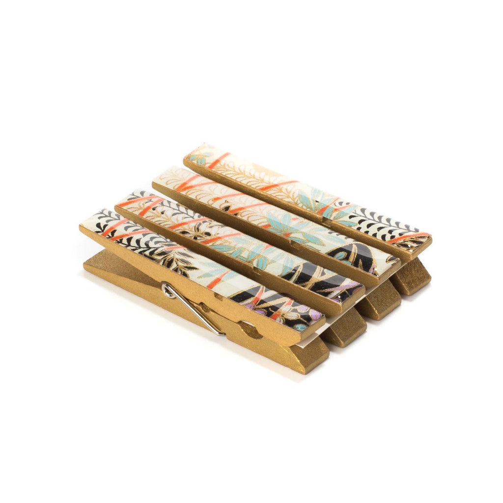 Wisteria Lane Japanese Chiyogami Yuzen Washi Clothespin Magnets - Set of 4 SKU# RCM - 1037