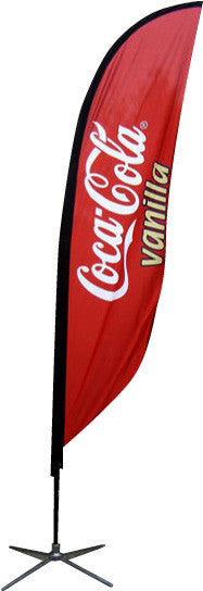 Custom Printed Full Color Feather Flags and Stands