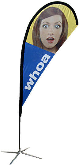 Custom Printed Full Color TEARdrop Banners and Banner Stand