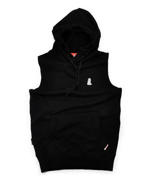 Sleeveless Hoody (Black)