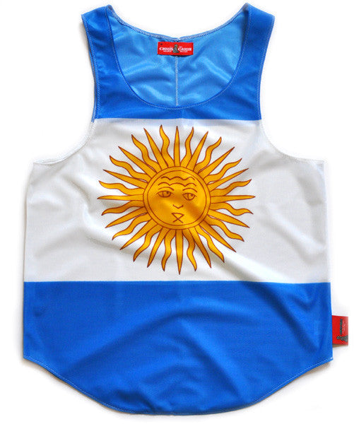 Argentina Flag Tank Top - CHRiS CARDi House of Design
