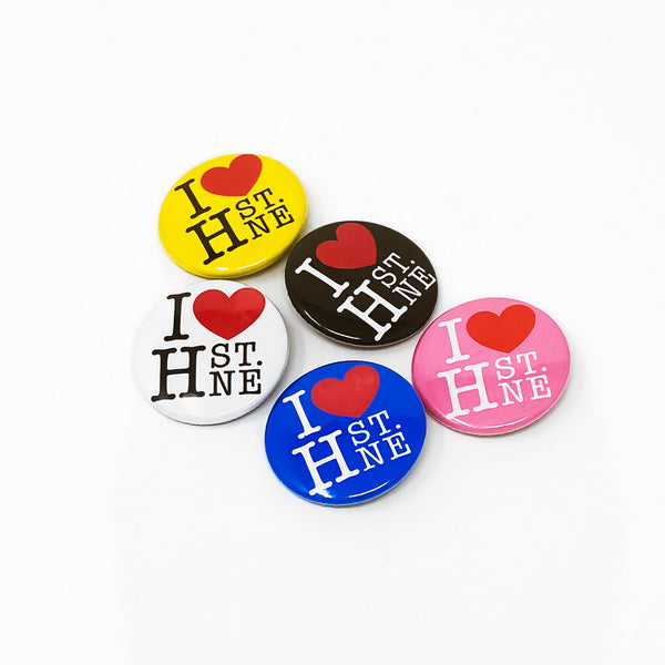 H ST NE Love 5 Pack Button Set