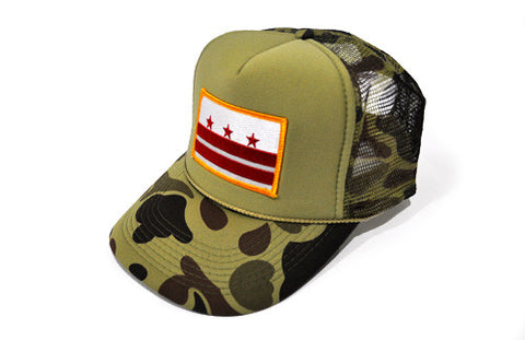 D.C. Capital Crown (Camo) Trucker - CHRiS CARDi House of Design