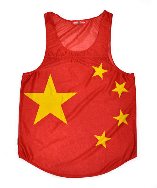 China Flag Tank Top - CHRiS CARDi House of Design