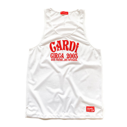 CARDi Rec League Tank Top (White) - CHRiS CARDi House of Design