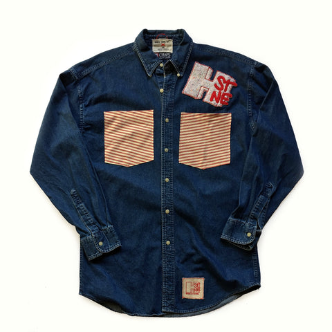 CHRiS CARDi x TREZO BEACH Vintage Chaps Ralph Lauren Denim Shirt (X-Large) - CHRiS CARDi House of Design