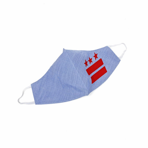 DISTRICT FLAG S.R.E. MASK (Blue/Red) - CHRiS CARDi House of Design