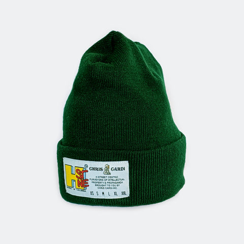 Hst Size Matters Beanie (Forest) - CHRiS CARDi House of Design