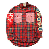 CHRiS CARDi x TREZO BEACH Vintage Gap Plaid Flannel Shirt (Large)