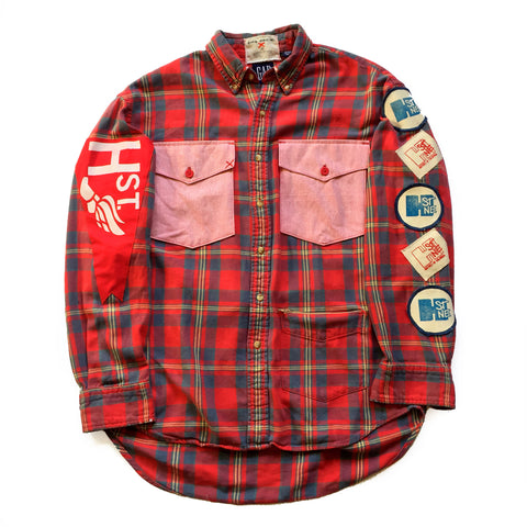 CHRiS CARDi x TREZO BEACH Vintage Gap Plaid Flannel Shirt (Large) - CHRiS CARDi House of Design