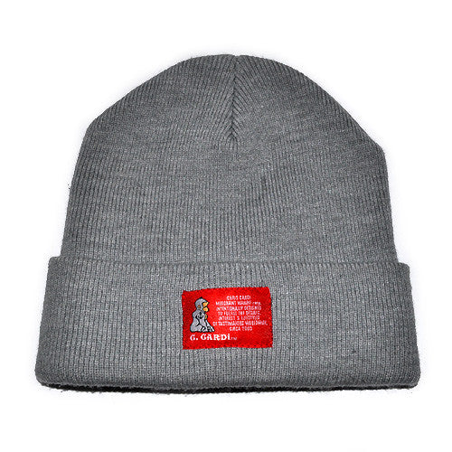 "The ""Motto"" Knit Cap (Heathered Gray)"