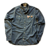 CHRiS CARDi x TREZO BEACH Vintage Land's End Chambray Shirt (Medium)