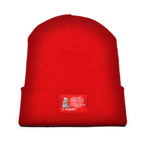 "The ""Motto"" Knit Cap (Red) - CHRiS CARDi House of Design"